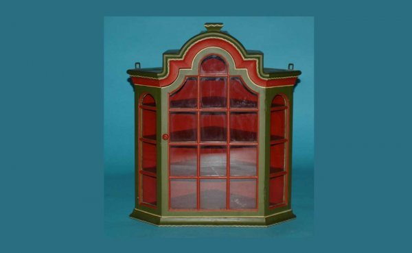 9: Hanging Painted Corner Cabinet.