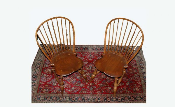 & 21A: Pair of D. R. Dimes Windsor Chairs