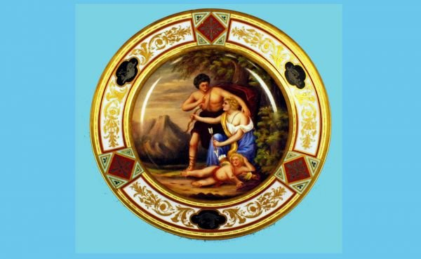 17A: Royal Vienna Hand Painted Porcelain Plate