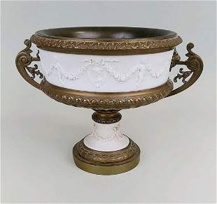 NEO-CLASSICAL STYLE BRONZE MOUNTED CENTERPIECE