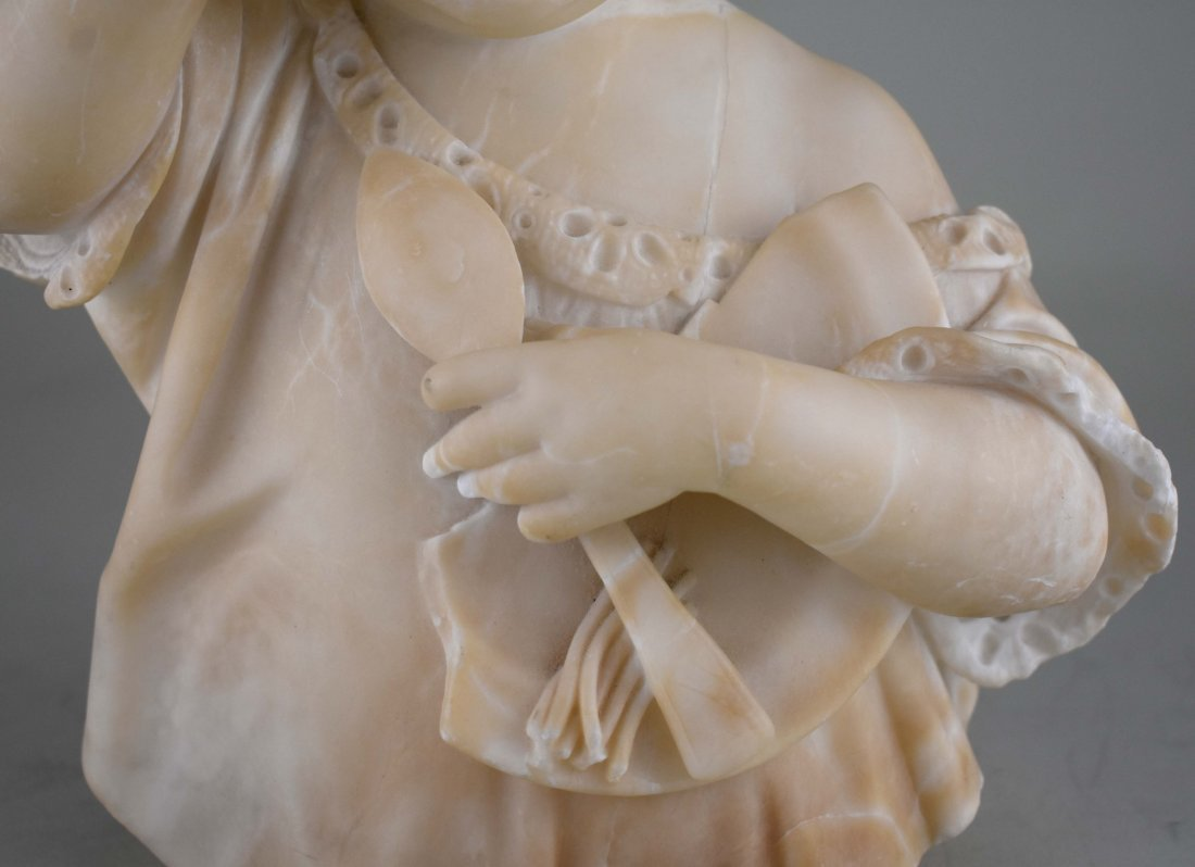 ITALIAN CARVED MARBLE SCULPTURE OF A YOUNG CHILD - 3