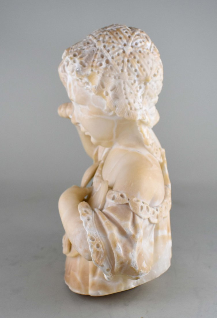 ITALIAN CARVED MARBLE SCULPTURE OF A YOUNG CHILD - 4
