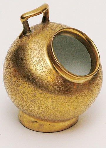 14: Pickard Gold Floral Etched Porcelain Cigarette Urn