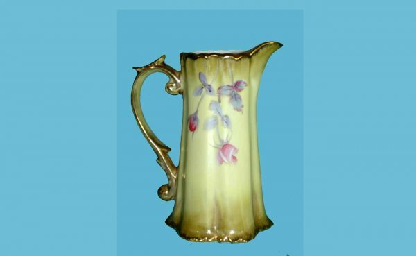 1002: Nippon Creamer with Floral Motifs and Gilt accent