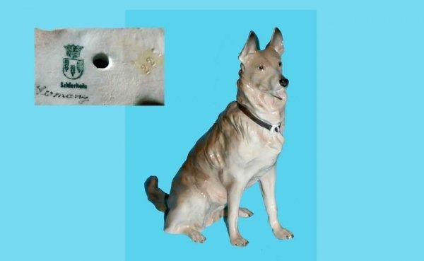 1005: Von Schierholz (German) Porcelain Glazed Dog