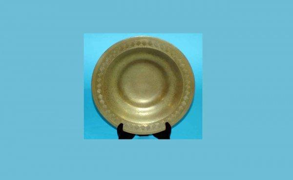 1006: Tiffany Studios Low Bronze Bowl