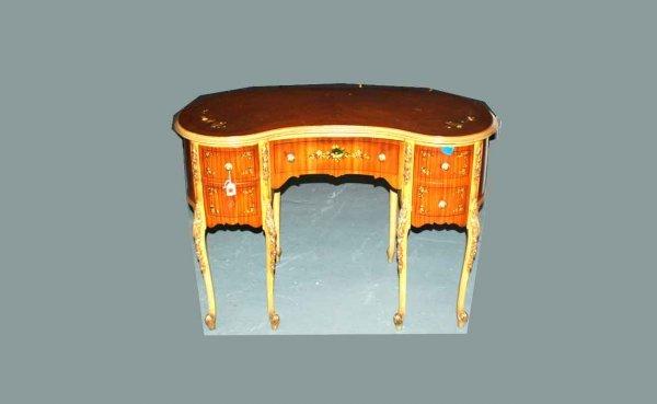 1011: Vintage Kidney-Shaped Lady's Writing Desk