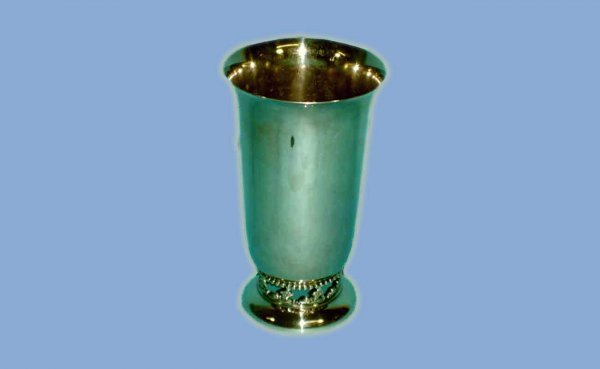 1015: Sheffield Silverplated Tall Vase