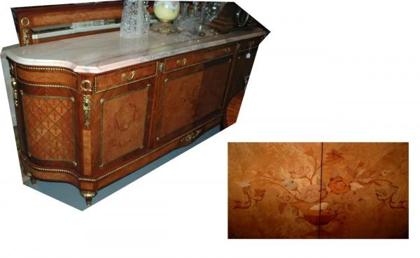 1024: Fr Empire-Style Marble-Topped Sideboard