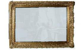1025: Huge Composition Beveled-Glass Wall Mirror