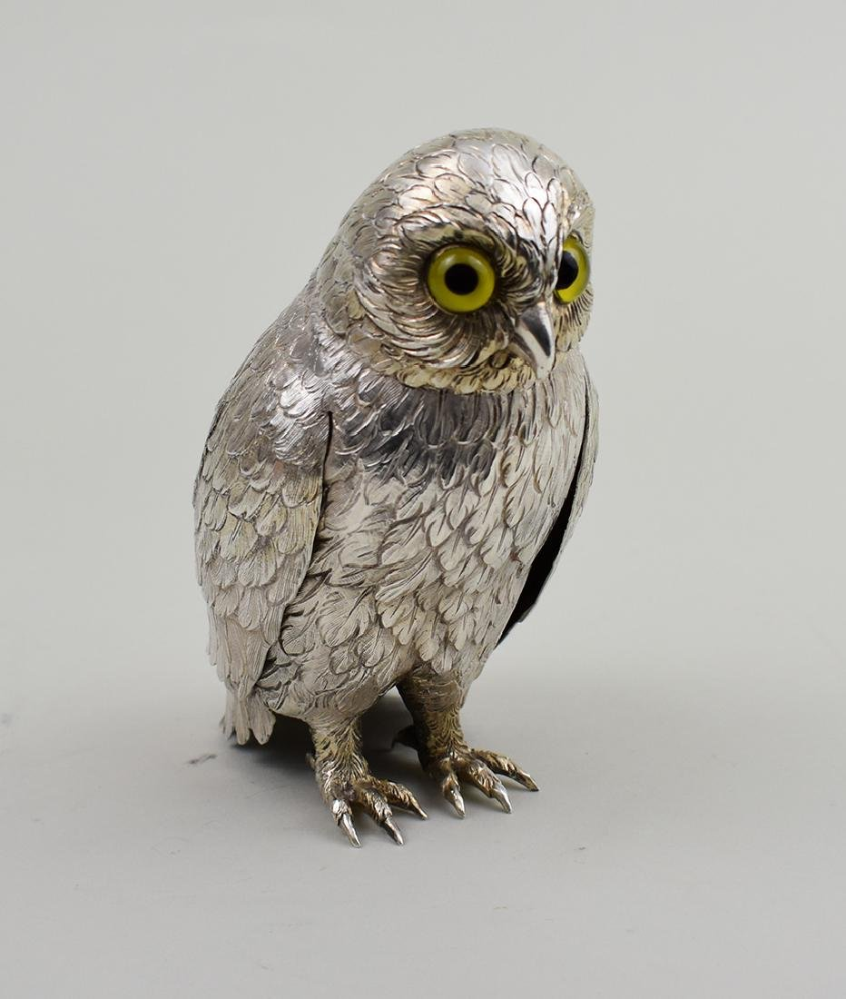 SILVERPLATE FIGURE OF AN OWL