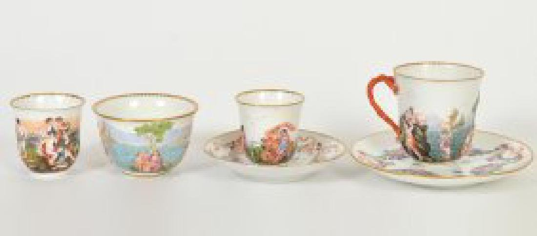 CAPODIMONTE PORCELAIN PART TEA & COFFEE SERVICE - 2