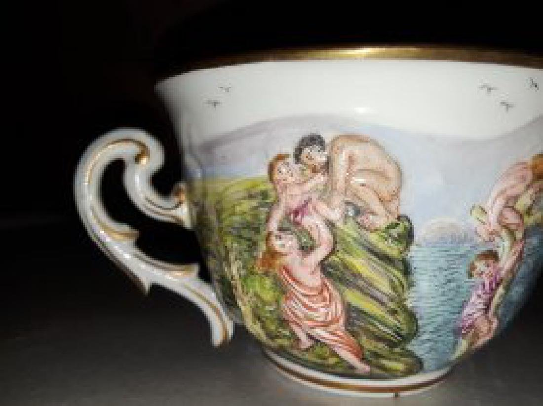 CAPODIMONTE PORCELAIN PART TEA & COFFEE SERVICE - 7
