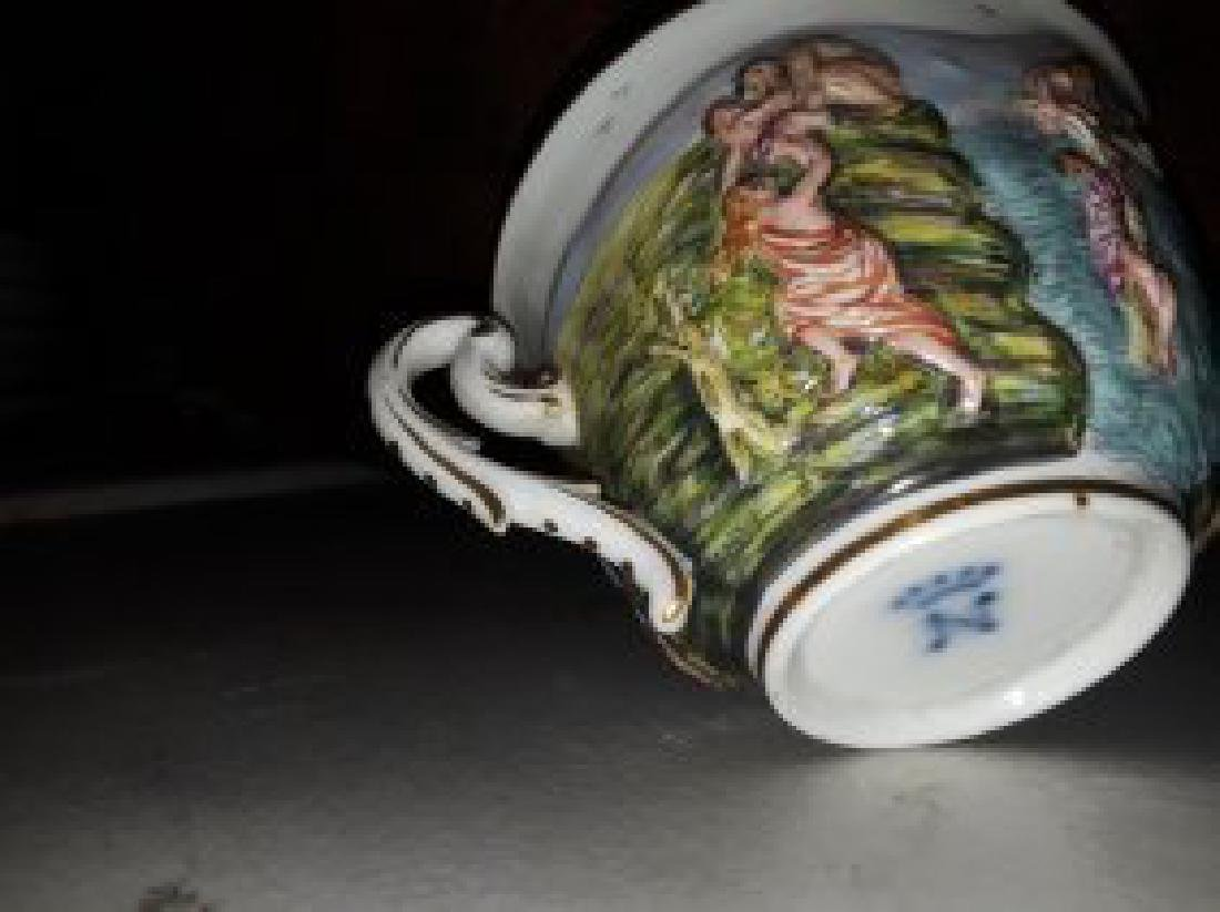 CAPODIMONTE PORCELAIN PART TEA & COFFEE SERVICE - 9