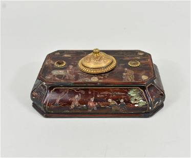 CHINESE COROMANDAL LACQUER INK STANDISH