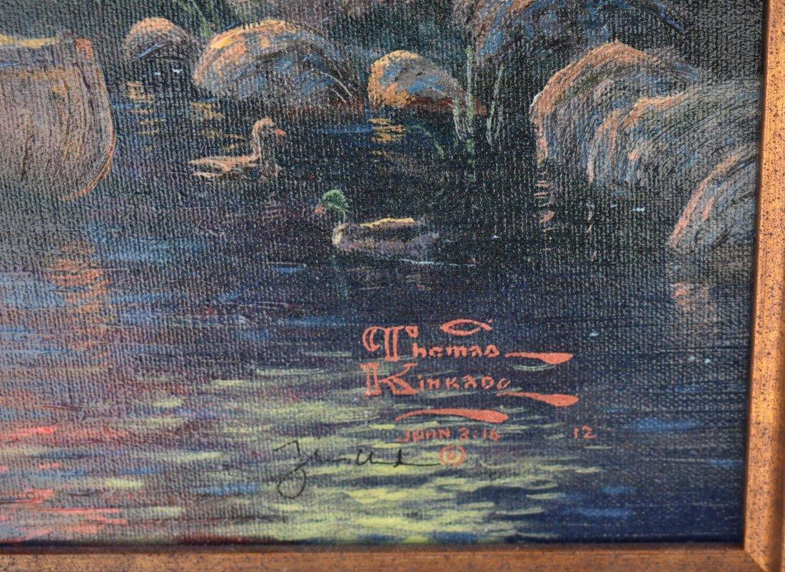 THOMAS KINKADE American 1958-2012, Mountain ParadiseII - 2