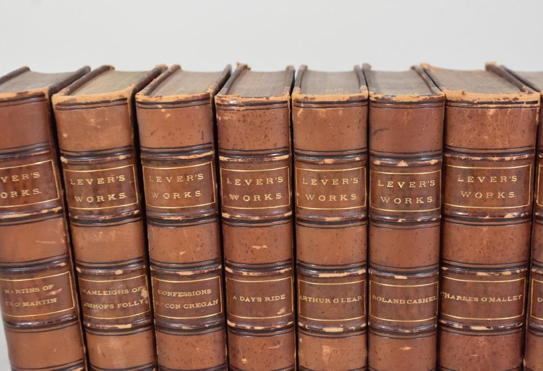 CHARLES LEVER'S WORKS, 23 VOLUMES