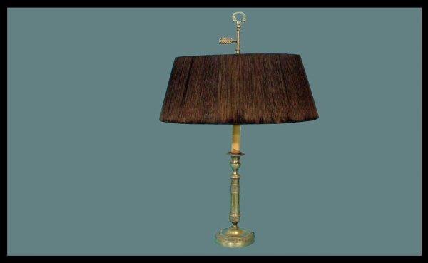 11: Brass Candlestick Two Light Lamp