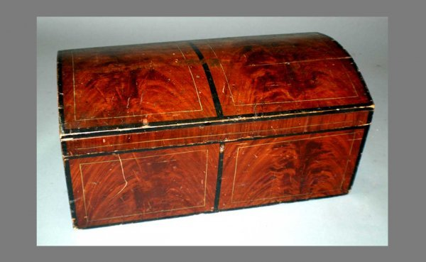 19: Victorian Stenciled Child's Trunk.  Measures 13 inc