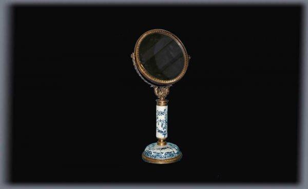 23: Chinese Bronze Tilting Decorated Dresser Mirror