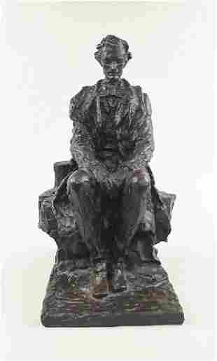 RARE JAMES EARLE FRASER ABRAHAM LINCOLN SCULPTURE