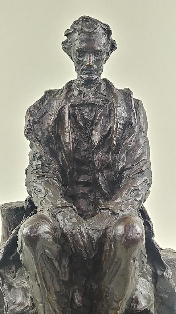RARE JAMES EARLE FRASER ABRAHAM LINCOLN SCULPTURE - 2
