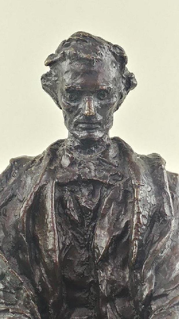 RARE JAMES EARLE FRASER ABRAHAM LINCOLN SCULPTURE - 3