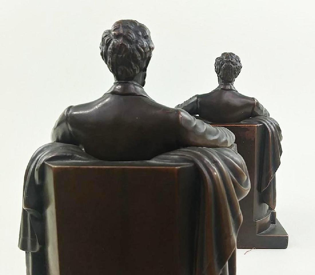 PAIR OFCOPPER FINISH BOOKENDS OF ABRAHAM LINCOLN - 4