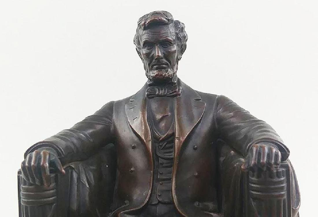 PAIR OFCOPPER FINISH BOOKENDS OF ABRAHAM LINCOLN - 5