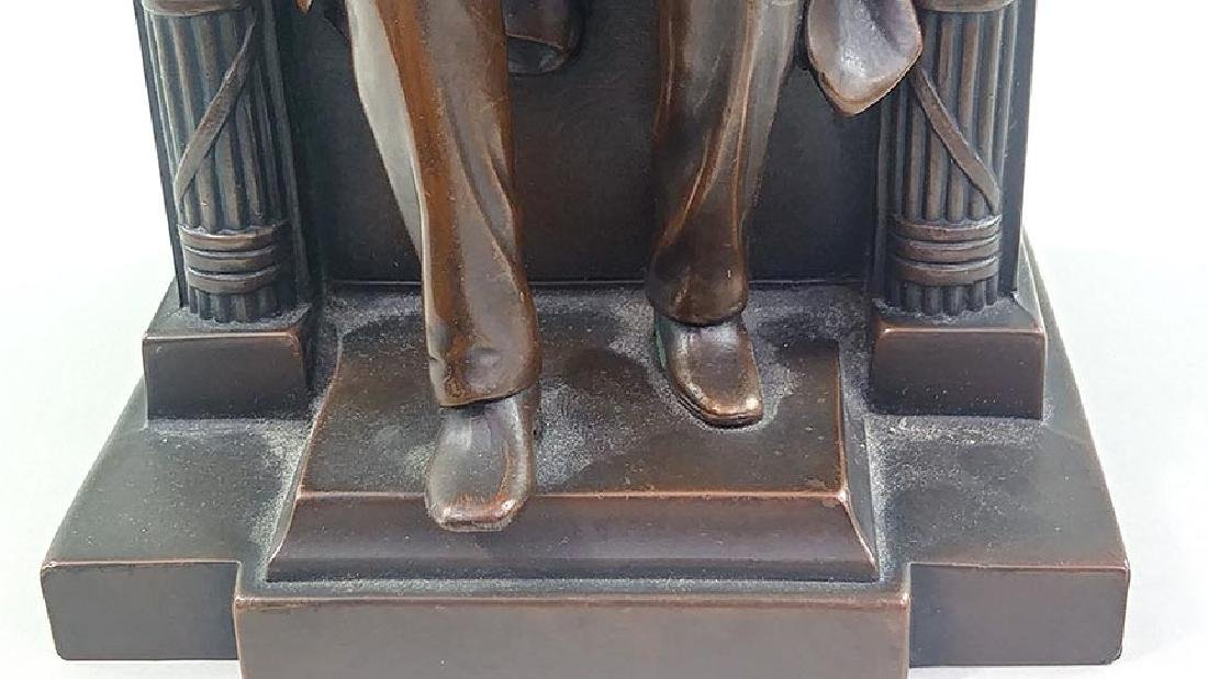 PAIR OFCOPPER FINISH BOOKENDS OF ABRAHAM LINCOLN - 6