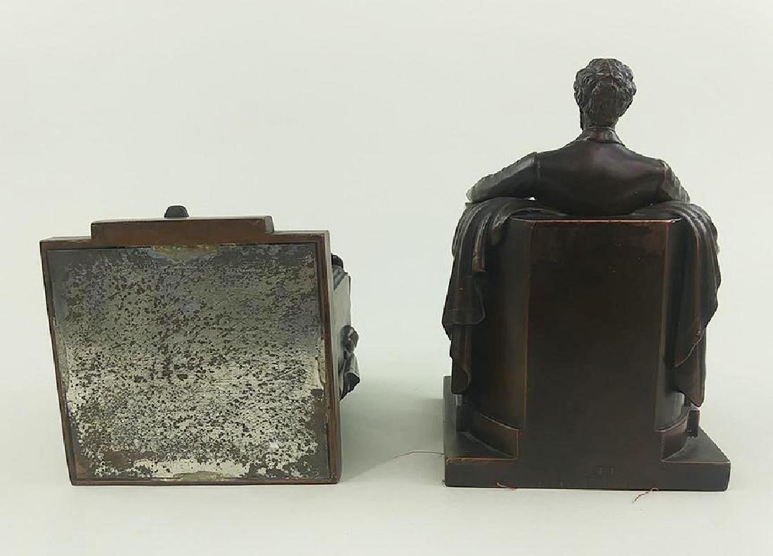 PAIR OFCOPPER FINISH BOOKENDS OF ABRAHAM LINCOLN - 7