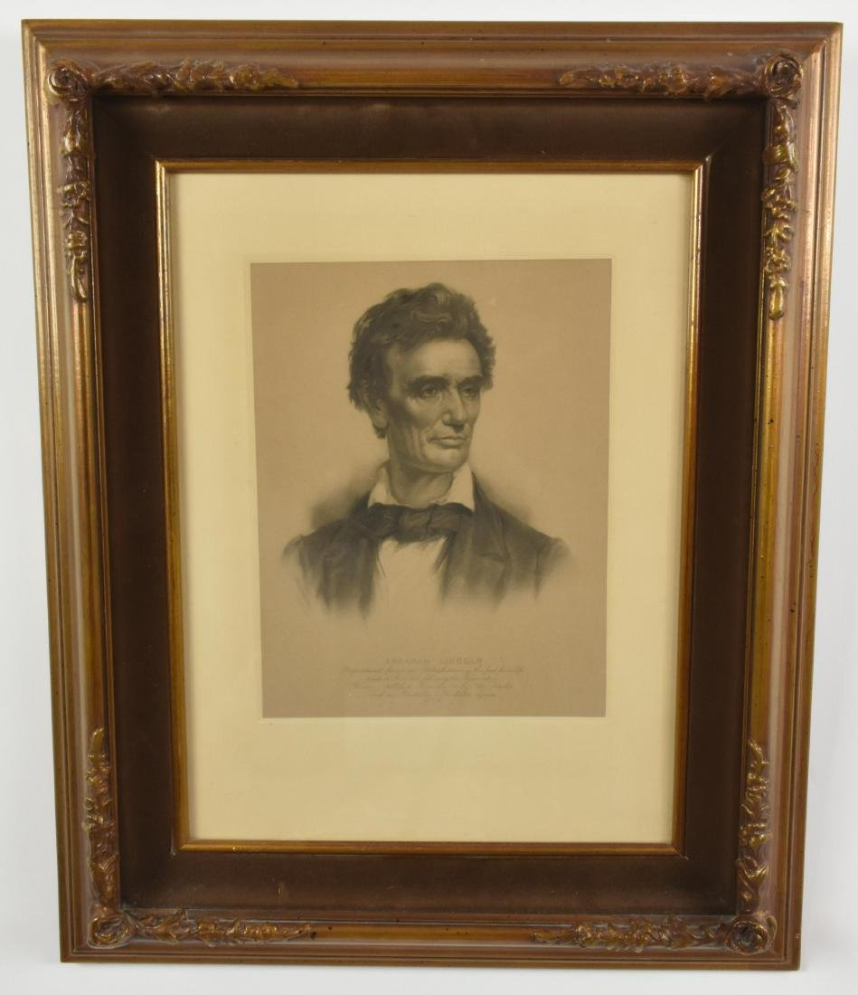 A EARLY 20TH CENT. PORTRAIT OF ABRAHAM LINCOLN