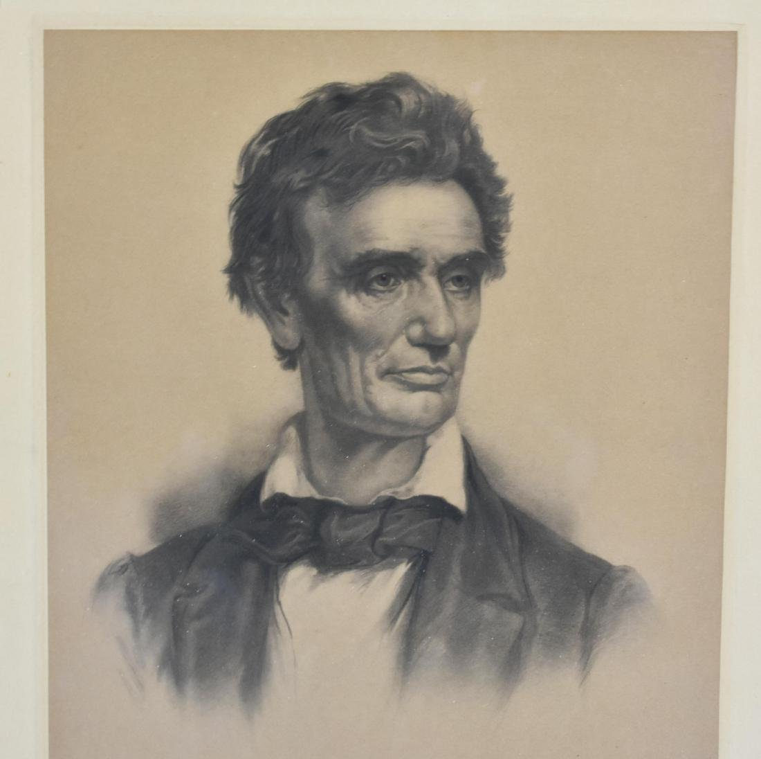 A EARLY 20TH CENT. PORTRAIT OF ABRAHAM LINCOLN - 2
