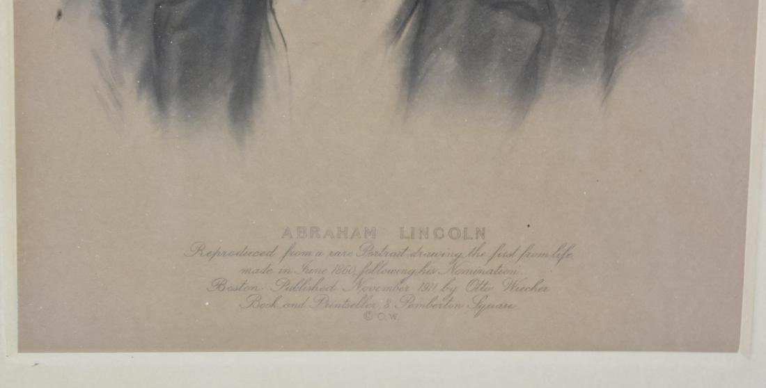A EARLY 20TH CENT. PORTRAIT OF ABRAHAM LINCOLN - 3