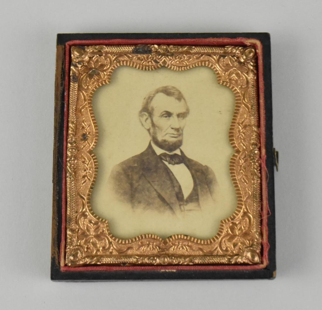 CDV OF LINCOLN  AFTER AN ENGRAVING OF BRADY PHOTOGRAPH