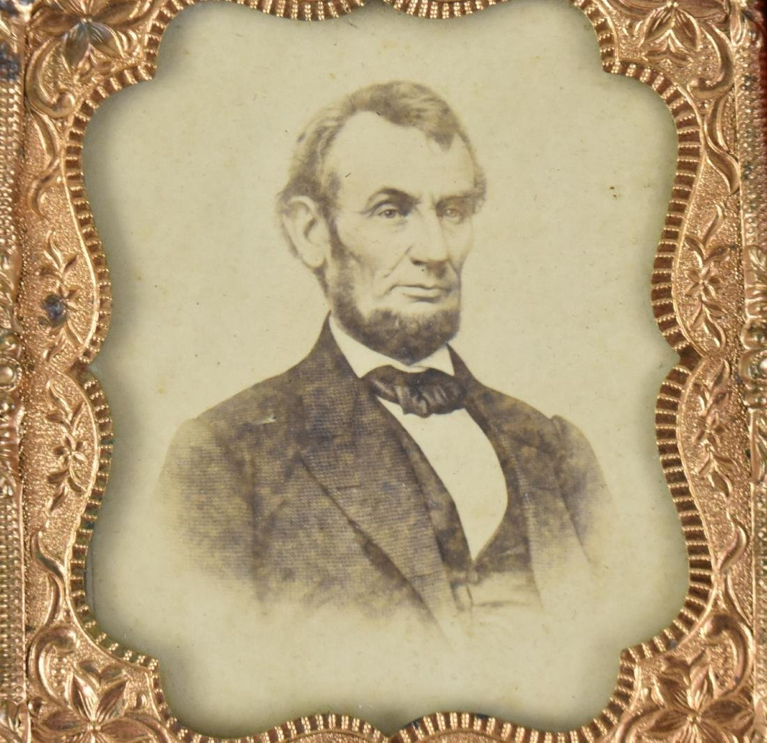 CDV OF LINCOLN  AFTER AN ENGRAVING OF BRADY PHOTOGRAPH - 2