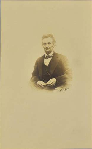 RARE PORTRAIT, LINCOLN SMILING, PHOTO, A. GARDNER 1864