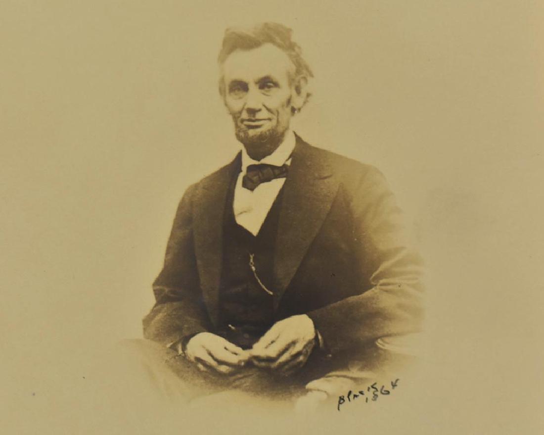 RARE PORTRAIT, LINCOLN SMILING, PHOTO, A. GARDNER 1864 - 2