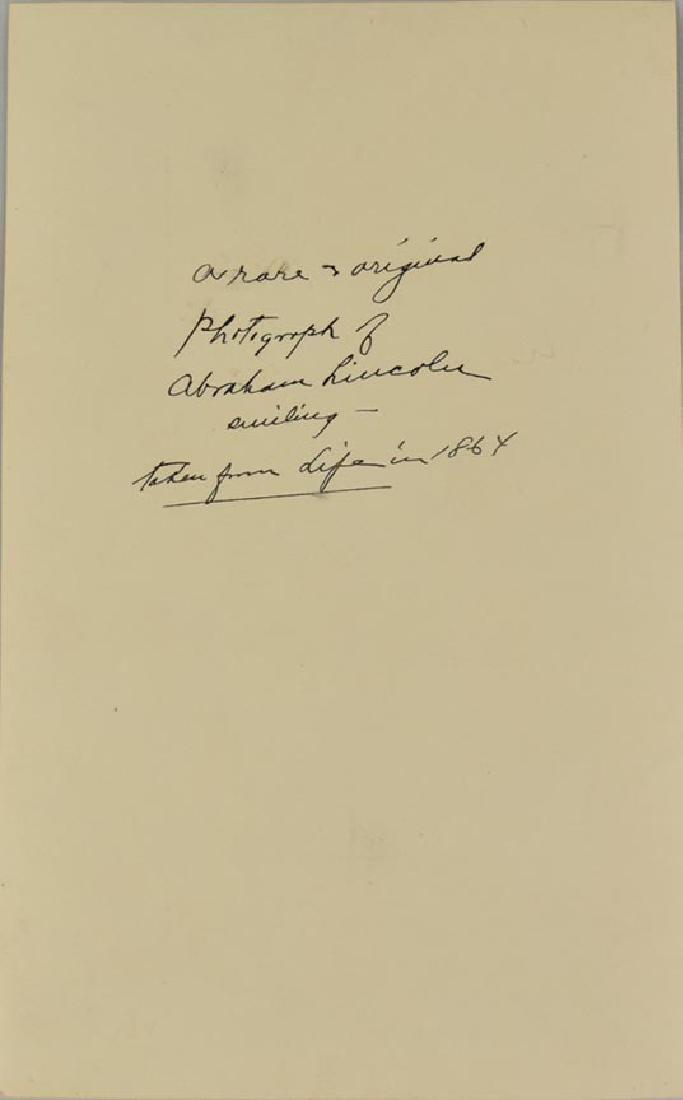 RARE PORTRAIT, LINCOLN SMILING, PHOTO, A. GARDNER 1864 - 4