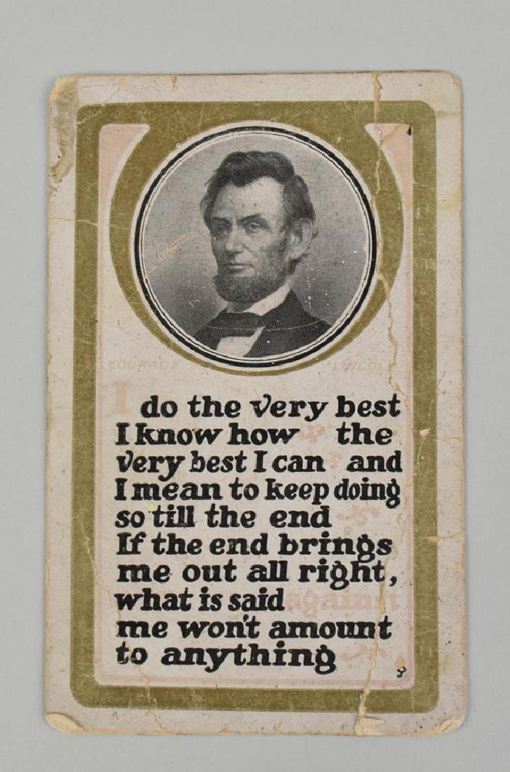 ABRAHAM LINCOLN MEMORIAL POST CARD