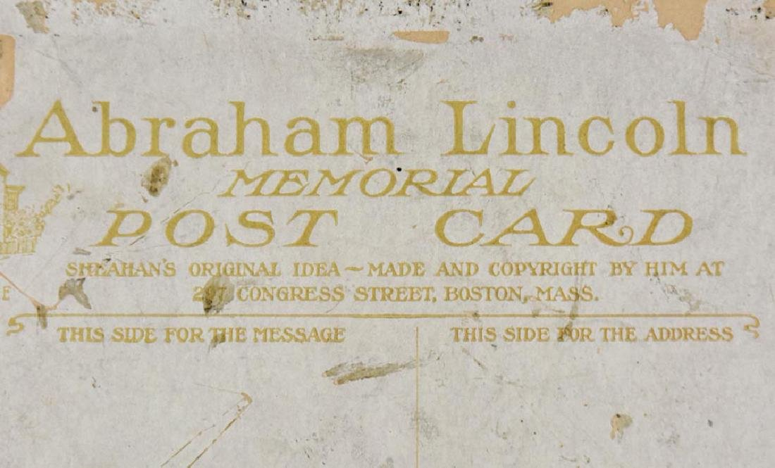 ABRAHAM LINCOLN MEMORIAL POST CARD - 4