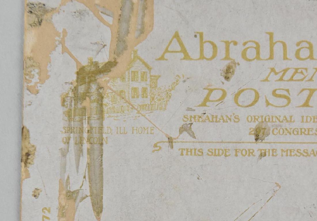 ABRAHAM LINCOLN MEMORIAL POST CARD - 6