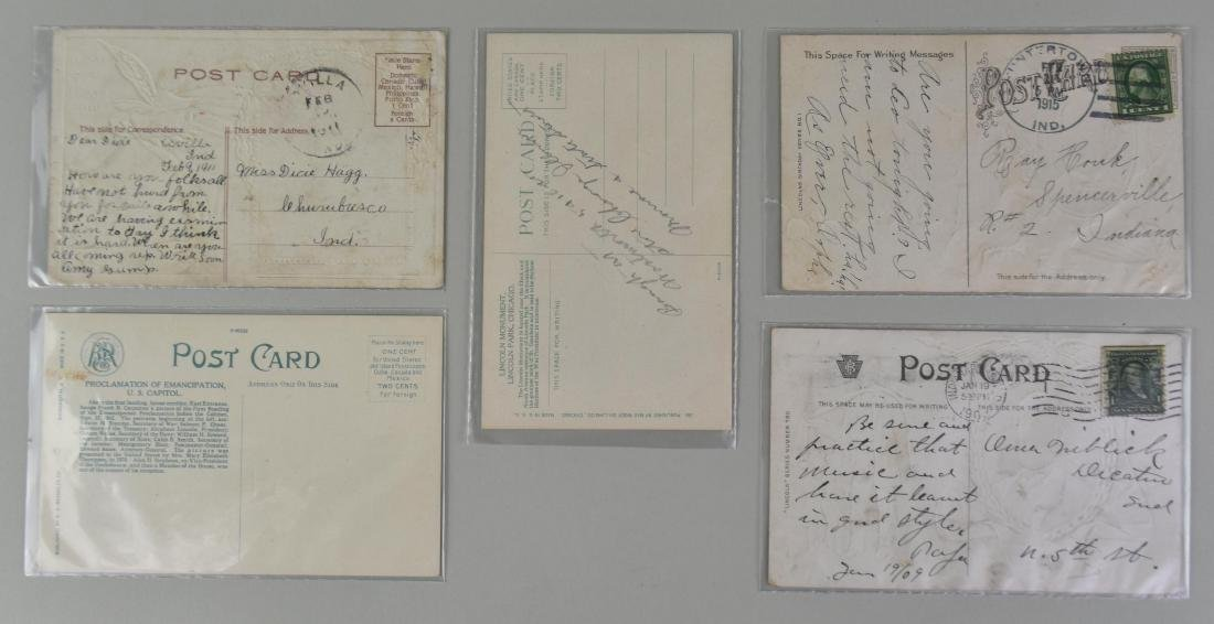 FIVE ABRAHAM LINCOLN SUBJECT MATTER POST CARDS - 2