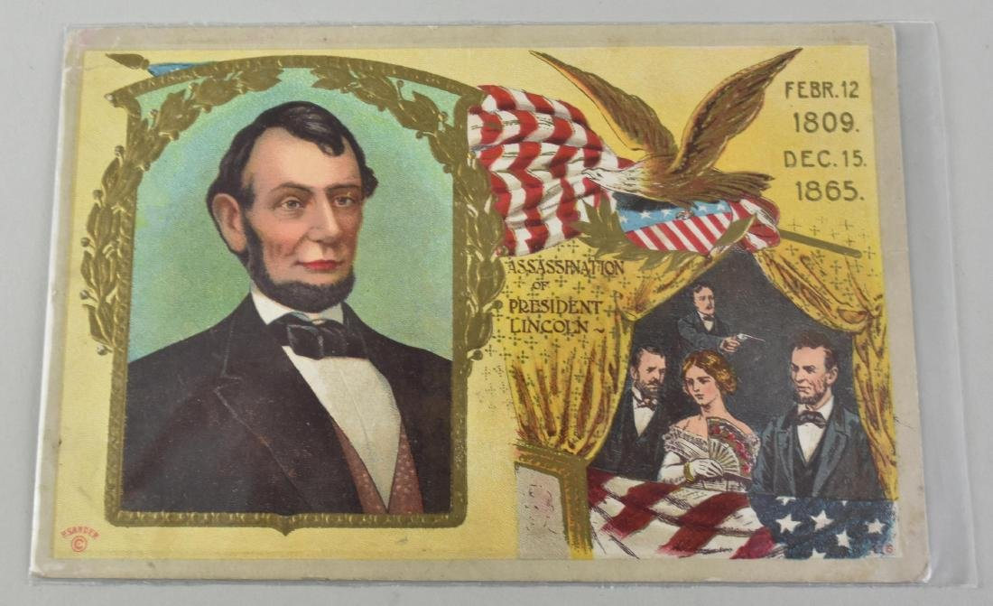 FIVE ABRAHAM LINCOLN SUBJECT MATTER POST CARDS - 3