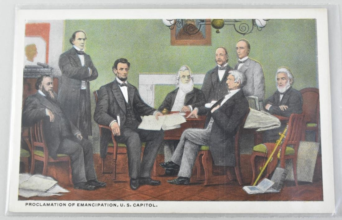 FIVE ABRAHAM LINCOLN SUBJECT MATTER POST CARDS - 5
