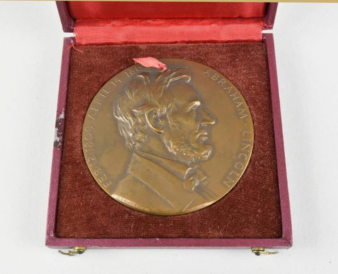 LINCOLN CENTENNIAL COMMEMORATIVE MEDAL, MEDALLIC ART CO - 3