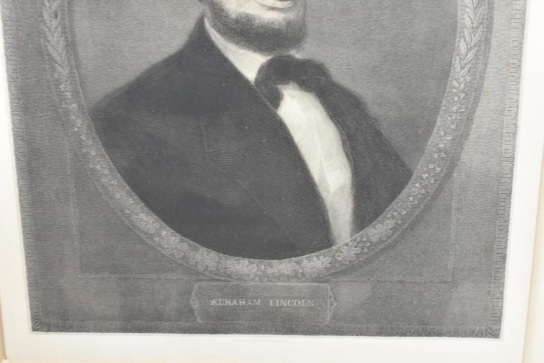 LARGE 19TH C. PHOTOGRAVUE OF ABRAHAM LINCOLN - 3