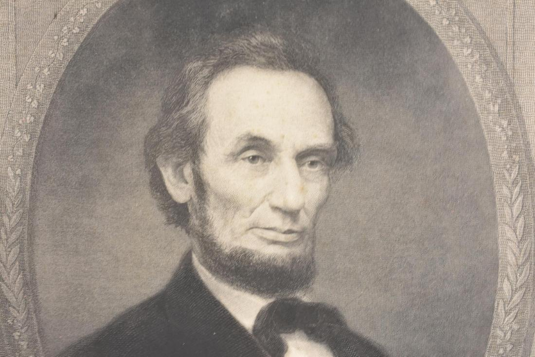 LARGE 19TH C. PHOTOGRAVUE OF ABRAHAM LINCOLN - 4