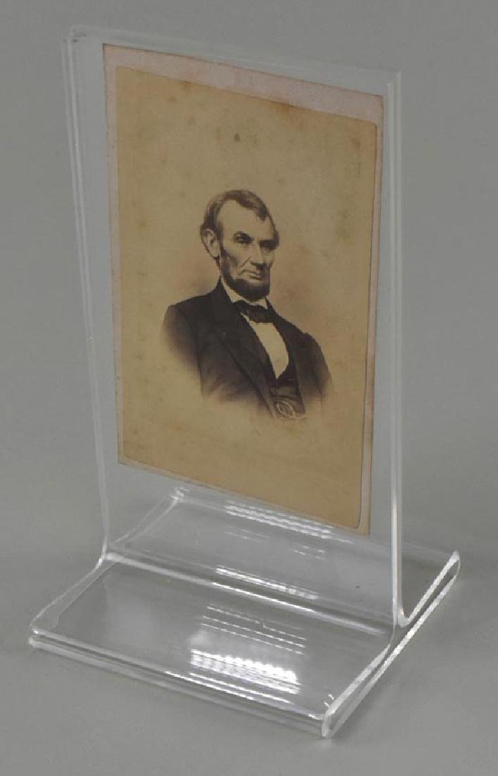 LINCOLN PORTRAIT, TAKEN IN BRADY STUDIO, 1864, CDV