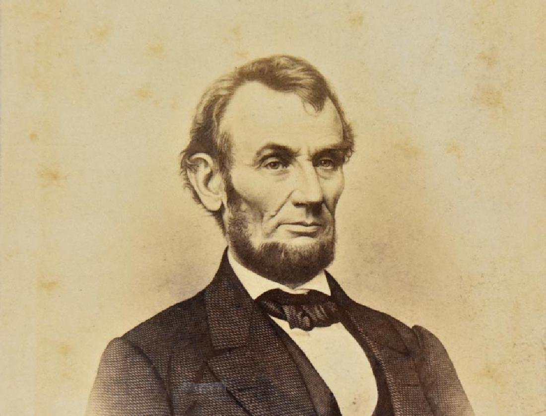 LINCOLN PORTRAIT, TAKEN IN BRADY STUDIO, 1864, CDV - 3